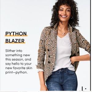 CABI python blazer size 10